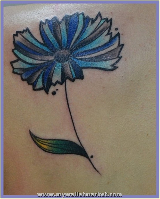 abstract-blue-daisy-tattoo