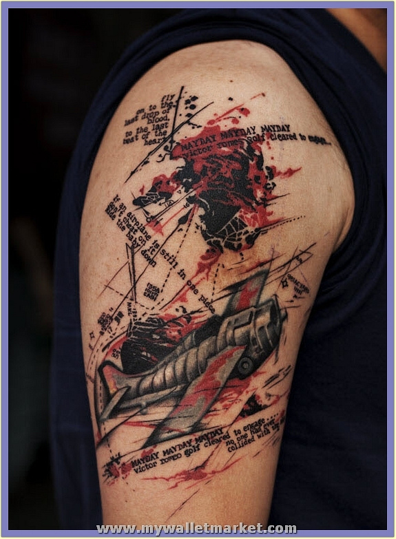abstract-plane-tattoo