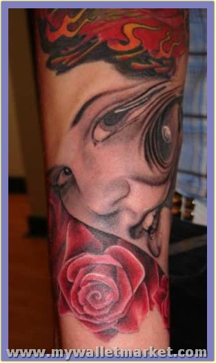 abstract-portrait-tattoo by catherinebrightman