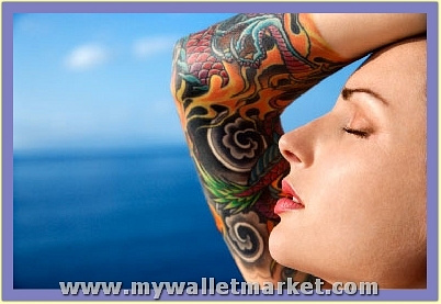 colorful-abstract-half-sleeve-tattoos-for-women