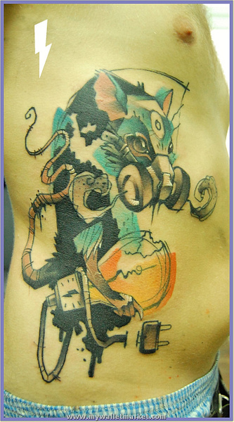 tattoo-apocalypse-rat by catherinebrightman