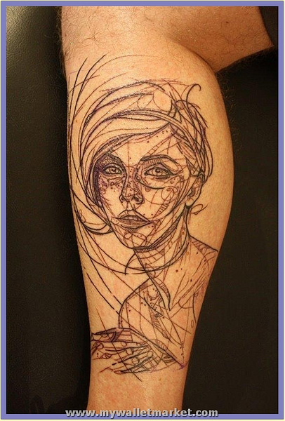 robot-woman-tattoo by catherinebrightman