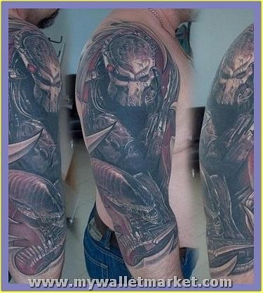 half-sleeve-alien-tattoo by catherinebrightman