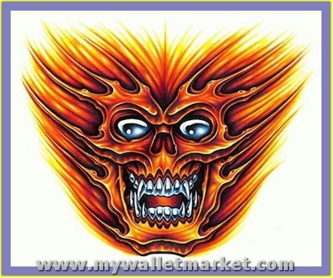 monster-alien-skull-face-tattoo by catherinebrightman