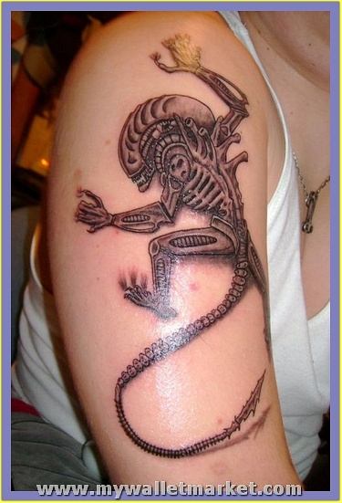 monster-alien-tattoo by catherinebrightman