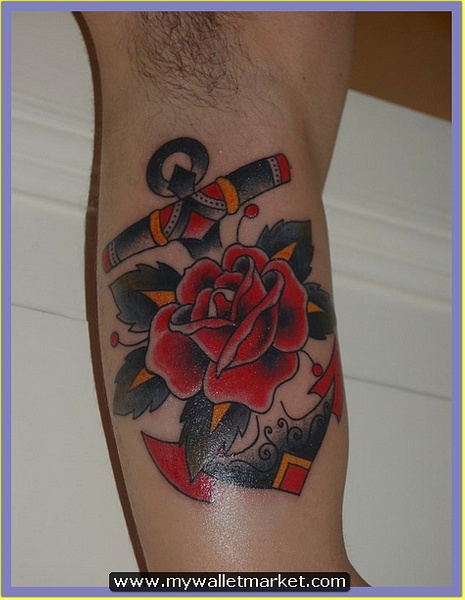 2-anchor_rose_old_school_tattoo by catherinebrightman