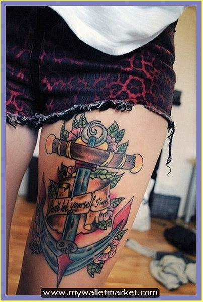 9-gorgeous-anchor-tattoo-on-leg by catherinebrightman