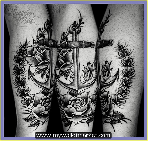 12-old-school-anchor-and-roses-custom-tattoo by catherinebrightman
