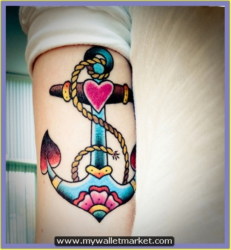 20-anchor-tattoo-on-arm by catherinebrightman