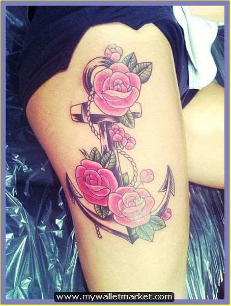 24-anchor-flower-tattoo-thigh by catherinebrightman