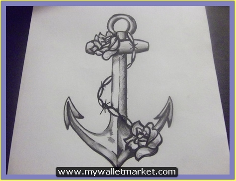 grey-ink-anchor-symbol-tattoo-with-chain by catherinebrightman