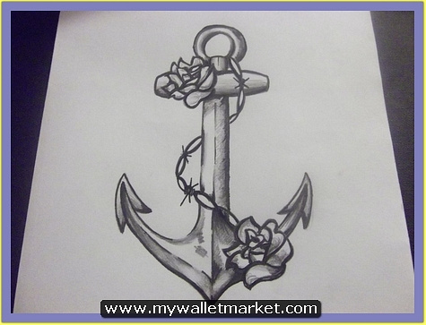 grey-ink-anchor-symbol-tattoo-with-chain