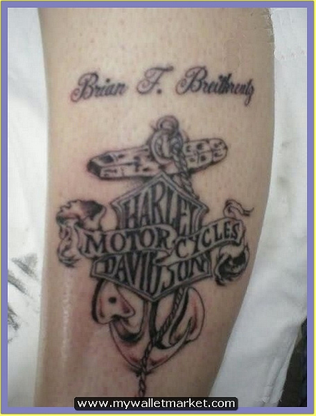 grey-ink-harley-davidson-anchor-tattoo by catherinebrightman