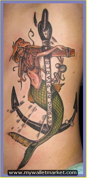 mermaid-anchor-tattoo by catherinebrightman