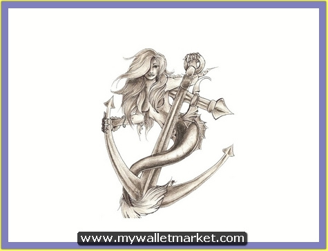 mermaid-on-the-anchor-tattoo-design by catherinebrightman