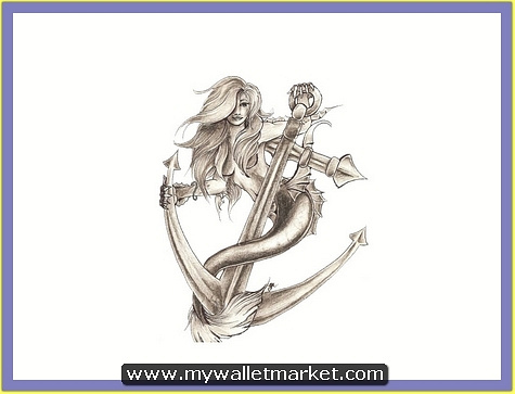 mermaid-on-the-anchor-tattoo-design