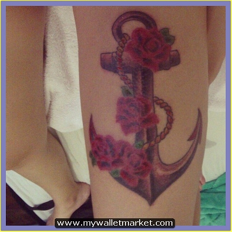 mind-blowing-rope-anchor-with-red-roses-tattoo by catherinebrightman