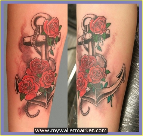 anchor-tattoo-with-red-roses by catherinebrightman