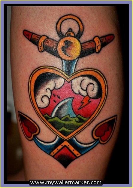 fantastic-heart-anchor-tattoo