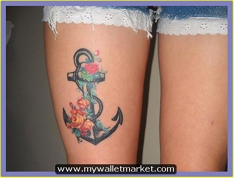 thigh-anchor-tattoo