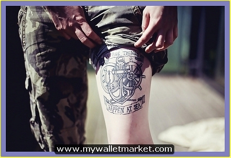thigh-anchor-tattoo-with-compass-banner-wheel by catherinebrightman