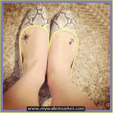 tiny-anchor-compass-tattoo-on-feet