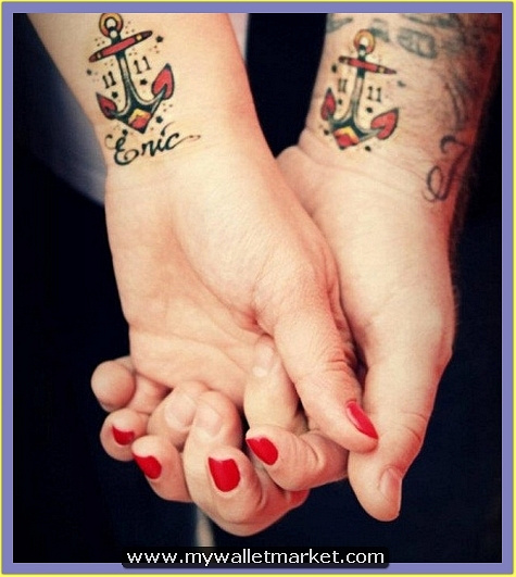 wrist-colored-anchor-tattoos by catherinebrightman