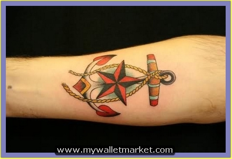 nautical-star-anchor-tattoo-on-arm by catherinebrightman