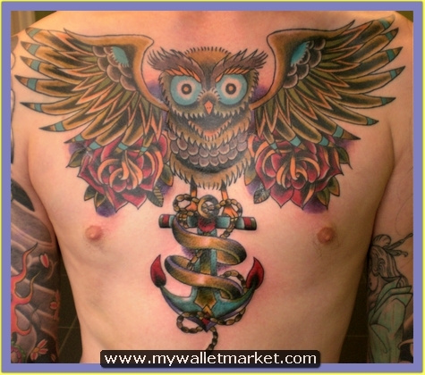 owl-with-anchor-chest-tattoo by catherinebrightman