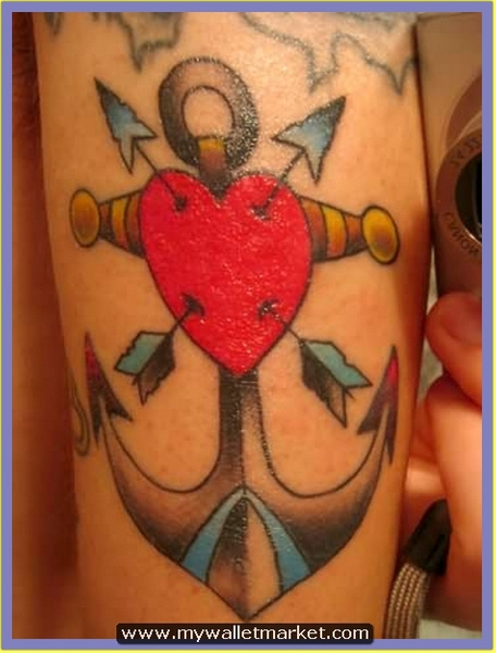 red-heart-with-arrows-and-anchor-tattoo by catherinebrightman